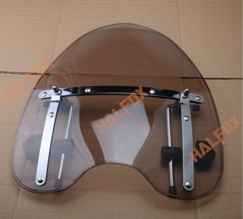 """1/"""" 25mm Windscreen Windshield For Yamaha V-Star XVS1100 XVS650 XVS1300 XVS950"""