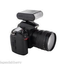 Mini DSLR Camera Slave Flash Speedlite for Canon Pentax Nikon Panasonic Fujifilm
