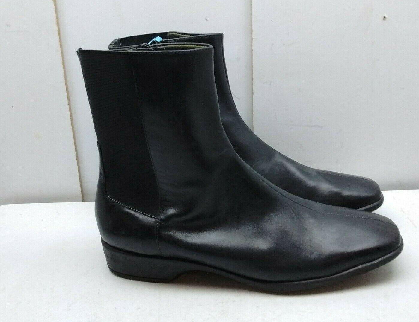 Easy Spirit Cuir noir Bottines Split Toe Zip Robe Décontractée femmes Chaussure 10.5 M