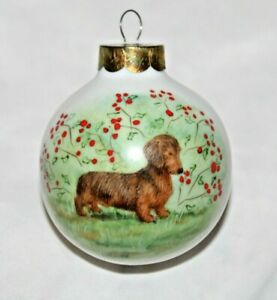Dachshund Christmas Ball Ornament