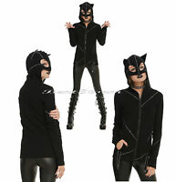 Royal Bones Tripp Stitched Kitty Cat Costume Hoodie Cosplay Ears Mask Catwoman