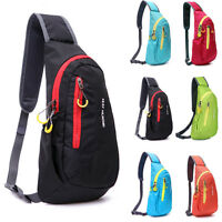 Cheap Men's Womens Sling Chest Bag Gym Casual Sports Travel Shoulder Bags Hiking