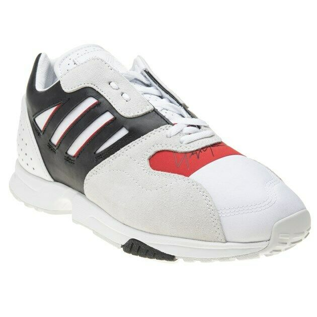 New Mens Y-3 White Zx Run Textile Trainers Chunky Lace Up
