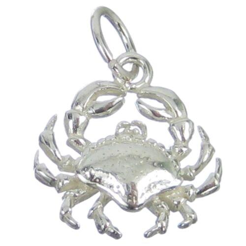 Crab sterling silver charm .925 x 1 Cancer Crabs Zodiacs Zodiac Charms BJ2128