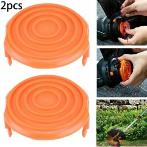 2 X Trimmer Spool Cap Cover For WORX WA0216 WG118 WG119 Corded Trimmer Grass