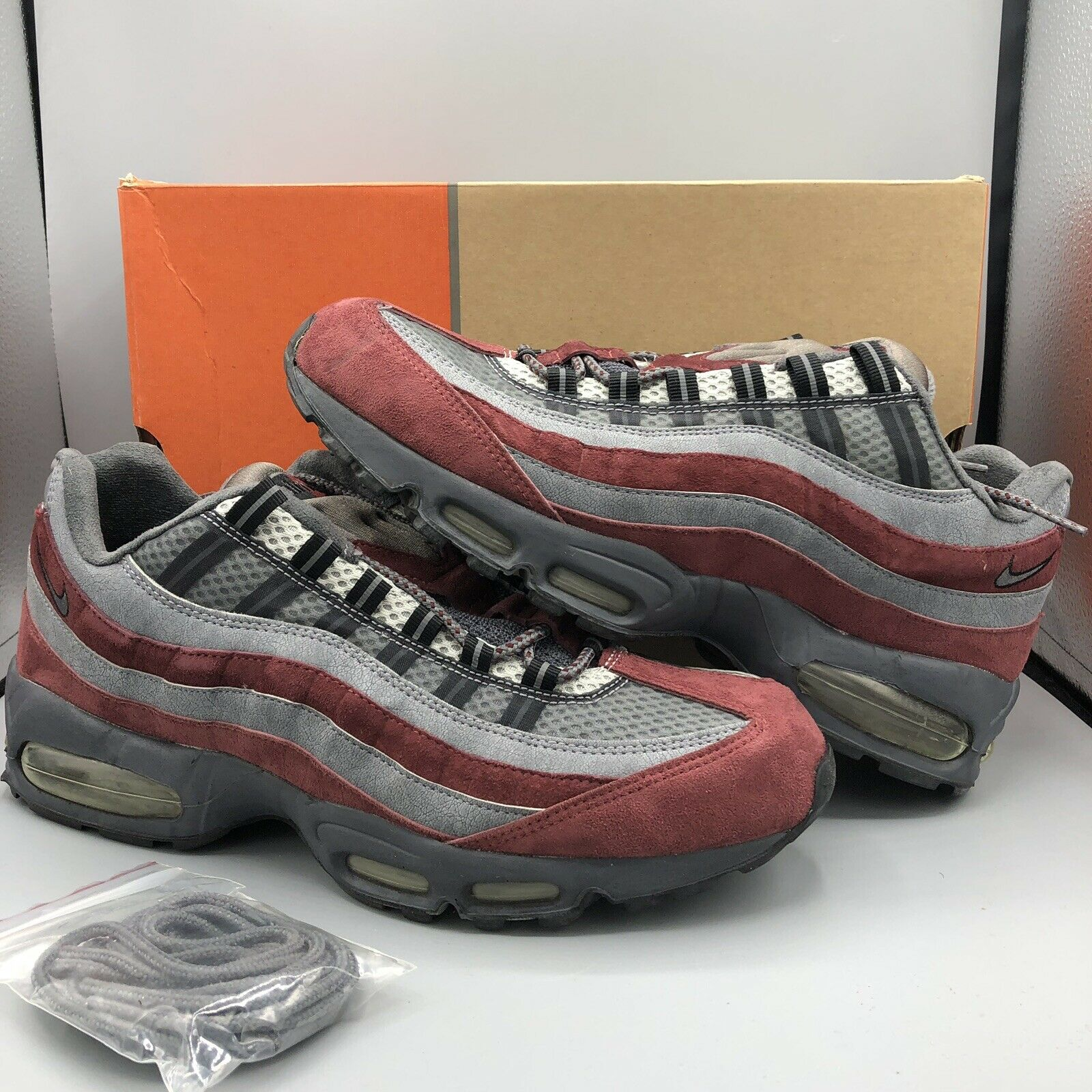 04 NIKE AIR MAX 95 PREMIUM GRAPHITE GREY REDWOOD RED 309785-061 ATMOS OG 90 12.5