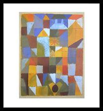 Paul Klee Städtische Komposition mit gelbem Fenster Poster Kunstdruck und Rahmen