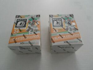 2020 NFL Donruss Optic Blaster Box Football Sealed IN HAND LOT OF 2 ! Burrow RC?