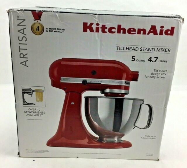 KitchenAid Artisan Series 5 Quart Tilt-Head Stand Mixer - Empire Red NEW!