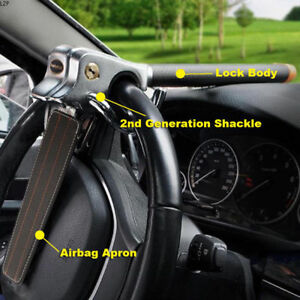 Anti-Theft-Lock-Car-Vehicle-Top-Mount-Steering-Wheel-Security-Airbag-2-Keys-UK