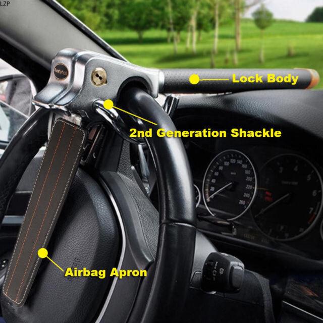 Anti Theft Lock Car Vehicle Top Mount Steering Wheel Security Airbag + 2 Keys UK