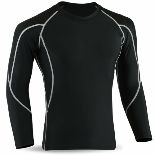 Mens Compression Body Armour Base Layer Full Sleeve Top Skin Gym Sports Shirt