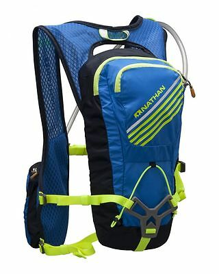 Nathan Grit Men's Race Vest Light Hydration Pack Running +2L Liter Bladder 5034N