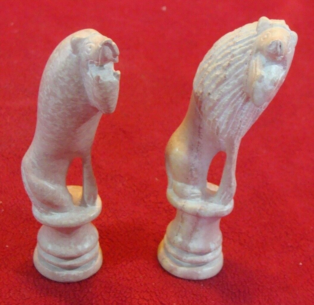 VINTAGE CHESS SET SET SET Made of STONE (African style) 415749