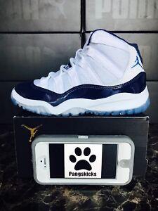0376549bf5c5ef Nike Air Jordan 11 Retro  Win Like 82  White Blue 378039-123 PS Size ...