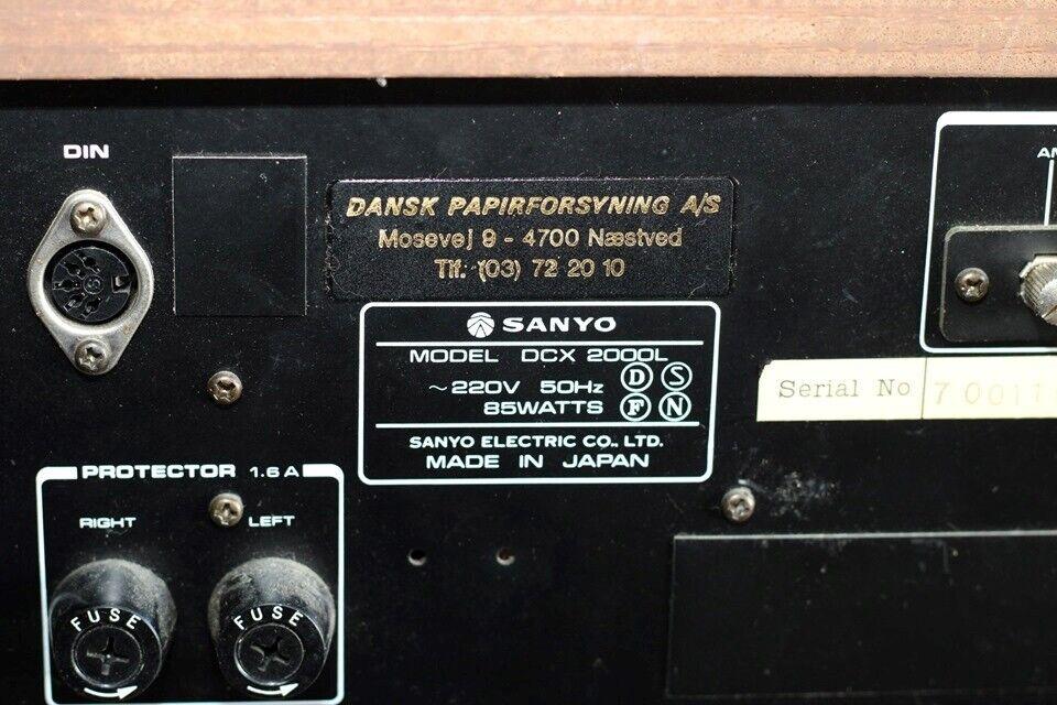 Receiver, Sanyo, DCX 2000L