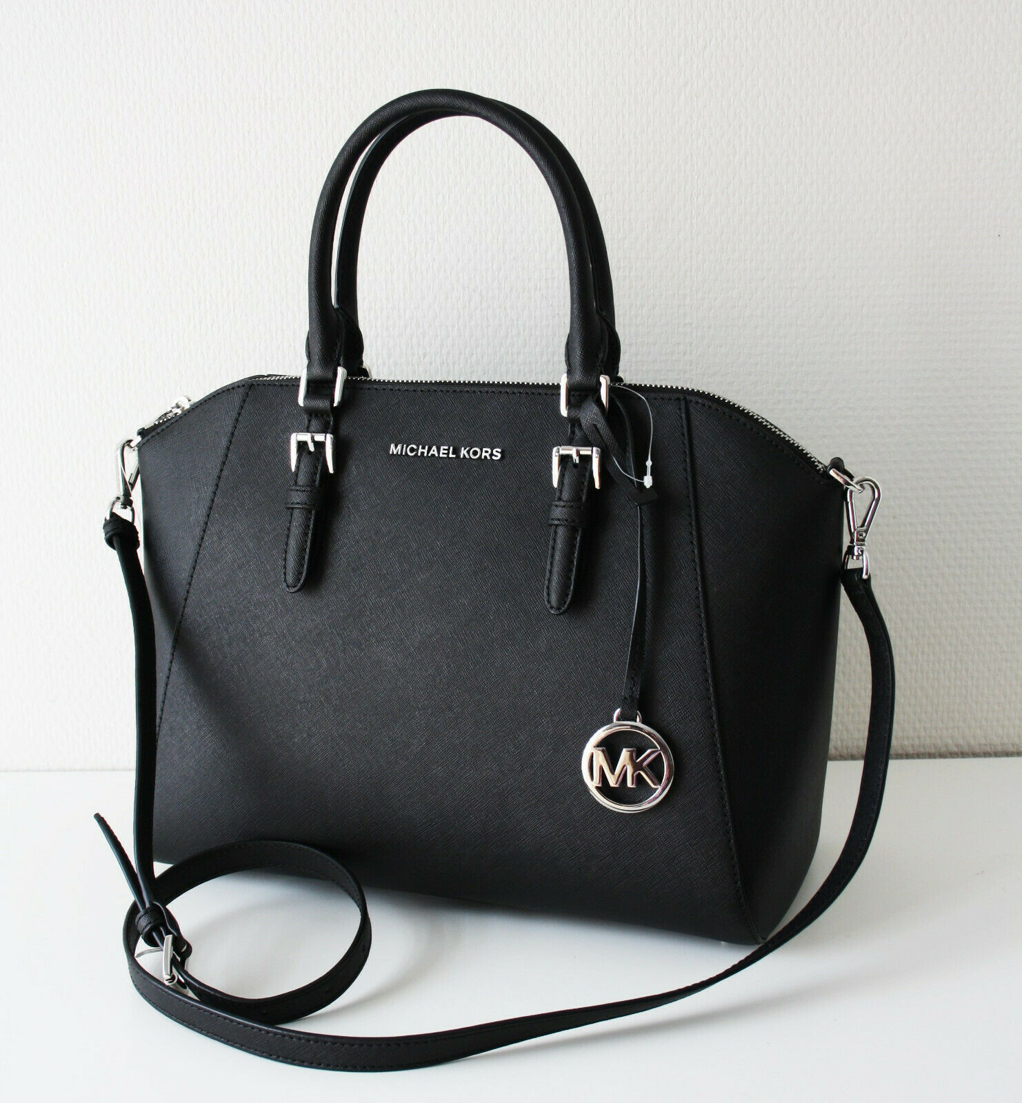 Michael Kors Bag Handbag Ciara LG Satchel Black 35H5SC6S3L