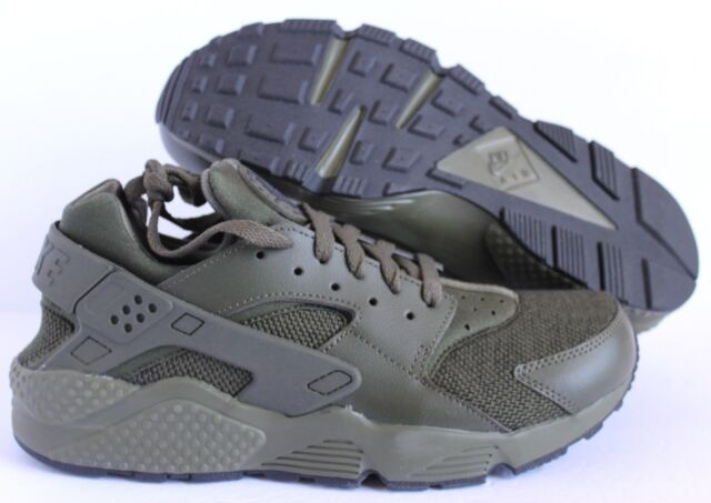 78fe13ef3147 Nike Air Huarache Mens Size 10 Running Shoes Black Cargo Khaki ...