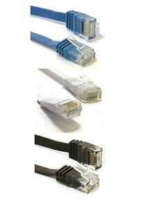 FLAT-Ethernet-CAT6-Network-Cable-Patch-Lead-RJ45-for-Smart-TV-PS4-Xbox-Wholesale