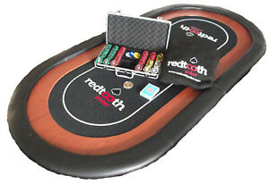 039-All-in-039-Redtooth-Poker-Set-with-Poker-Table-Chip-Set-Playing-Cards-amp-MORE