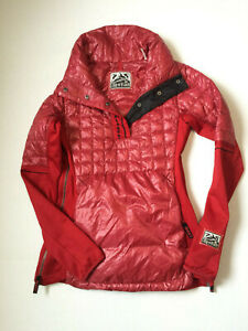 Alp-n-Rock-Traverse-Anorak-Black-Pullover-WOMENS-SIZE-1-SMALL-RED-PERTEX-DOWN