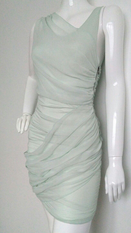 Designer ALICE + OLIVIA silk dress size size size S --BRAND NEW-- green wedding party 2ed7ec