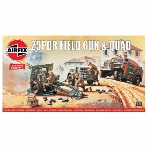 Airfix Vintage Classics25PDR Field Gun and Quad 176 Item A01305V Gun