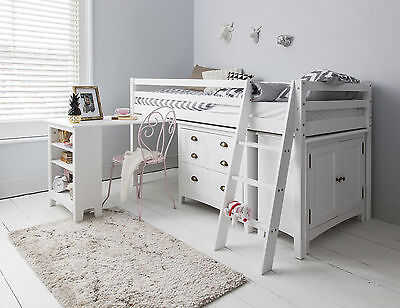 Cabin Bed Midsleeper Sleepstation With Chest Of Drawers