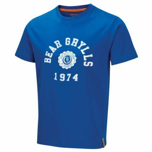 Craghoppers Bear Grylls T Shirt 100/% Cotton Jersey Crew Neck Extreme Blue