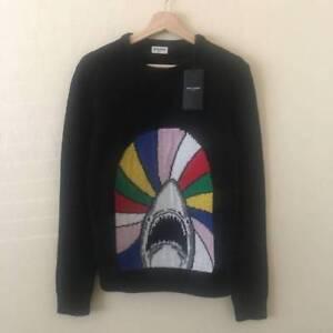 e0d31a7ca3 Saint Laurent Paris 'Sweet dreams' Shark Patch Jacquard Black sz XL ...