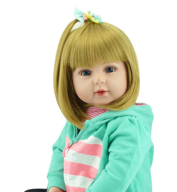 "22/"" Lifelike Reborn Baby Girl Doll Soft Viny Infant Newborn Toy Jessica Gift New"