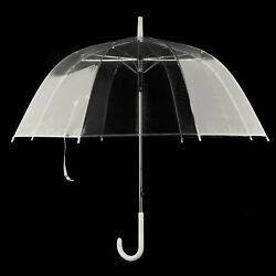 Automatik Regenschirm transparent durchsichtig Automatik Golf Stockschirm Ø80cm