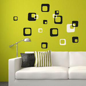 Wandtattoo-Retro-Cubes-Aufkleber-Dekorset-Quadrate-Wall-Art-Wand-Tattoo-2133