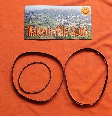 3 x Piece Drive Belt Set for The Aiwa AD-6700 Cassette Deck Brand New