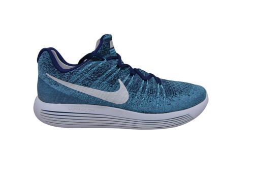 Hommes Nike 402 Low Lunarepic Blanc Bleu Flyknit 863779 Baskets qa6qFrw