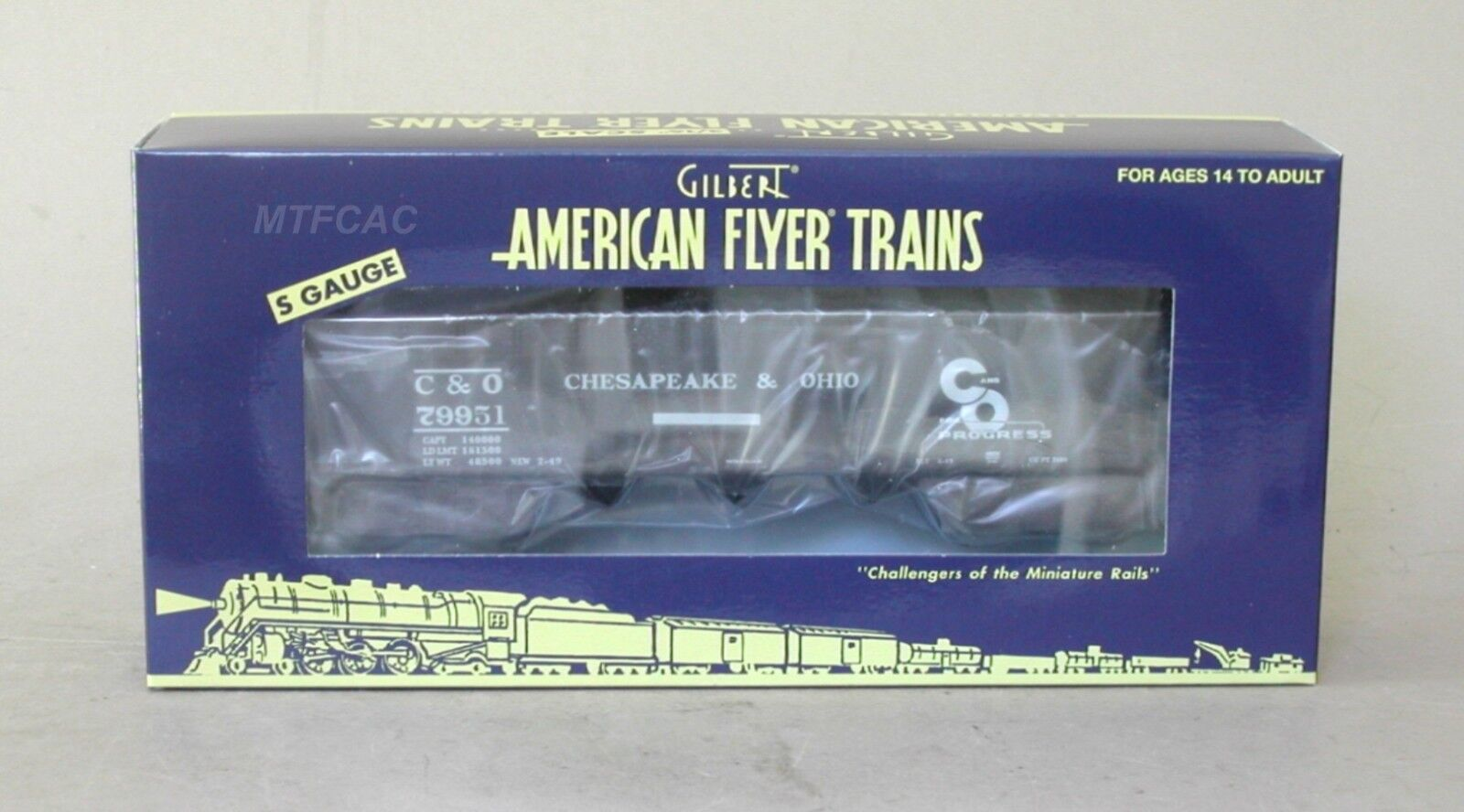 Lionel American Flyer 6-44059 C&O 3-Bay Hopper Car 79951