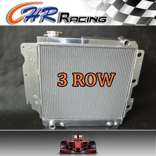 3row aluminum radiator for Jeep Wrangler YJ TJ 2.4L//2.5L L4 4.0L//4.2L L6 87-06