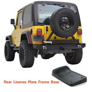 Tail-Rear-License-Plate-Base-Holder-Bracket-Trim-For-Jeep-Wrangler-TJ-97-06-CA