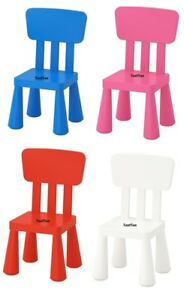 IKEA MAMMUT KIDS PLASTIC CHAIR CHILDRENS TODDLERS EASY ASSEMBLY INDOOR OUTDOOR