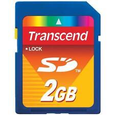 BRAND NEW! Transcend 2GB 2 GB SD Flash Memory Card