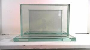 GLASS PICTURE FRAME BOOKENDS THICK