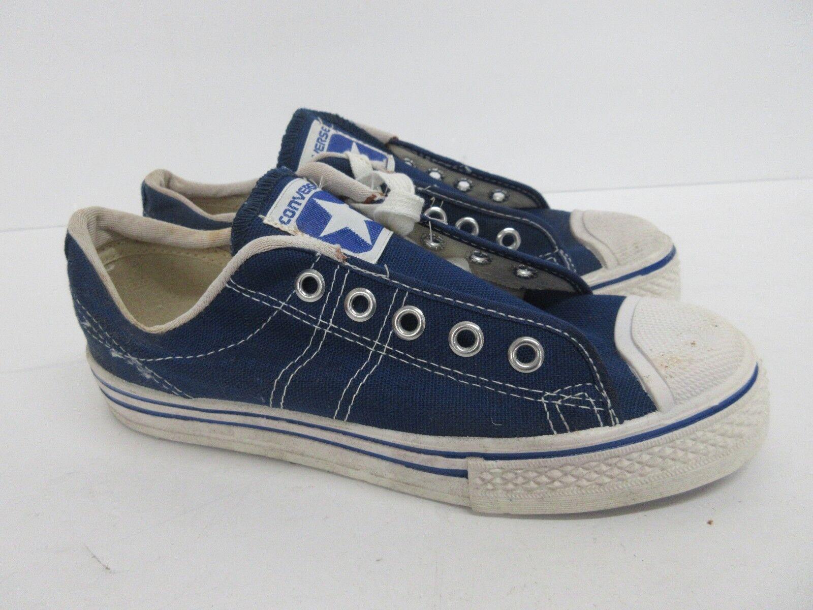 Vintage Retro Converse en Azul Lona Lona Lona 60s 70s Niños Tamaño  2.5  connotación de lujo discreta