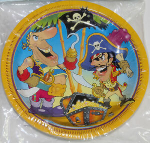 Pirate-Party-Small-Plates-18cm-Boys-Kids-Birthday-Party-Supplies-Pack-of-8