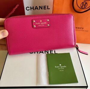 2710dfea5561 Kate Spade New York Pink Zippy Wallet  198 MSRP Full Size Organizer ...