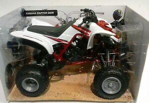 NEW-RAY-1-12-DIE-CAST-QUAD-ATV-YAMAHA-RAPTOR-660R-BIANCO-ART-57503