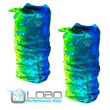 Lobo Performance Gear 2 Pack Mahi Skinz' seamless bandana Headwear UPF50 Fishing