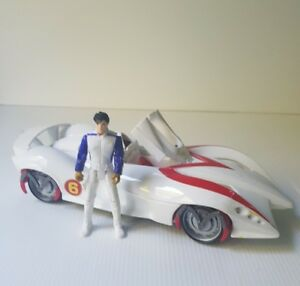 Speed-Racer-the-movie-Warner-Brothers-white-mech-6-Racer-car-with-action-figure