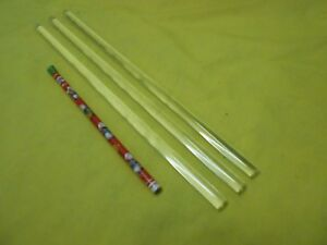 """3-7//8/"""" Long *Some Imperfections* PVC Machinable Round Bar Stock 3/"""" Diameter"""