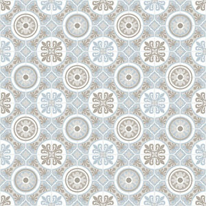Lagos Retro Tile Effect Vinyl Flooring Kitchen Bathroom Lino Cushion