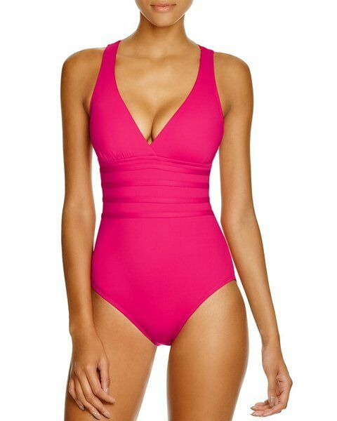 344b8063de4d7 La Blanca Island Goddess One Piece Swimsuit Berry LB6BA22 8 for sale online